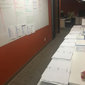 Production area was in full swing during bid season. So grateful to be in our new office with expanded space.